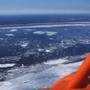 2010 год. Ледоход, облёт реки Енисей с МЧС Таймыра